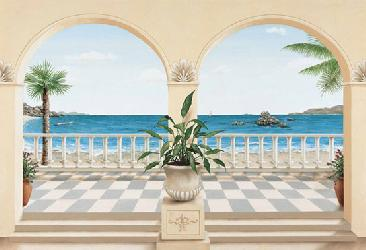 Poster para pared - Terrase provencal Enmarcado de laminas