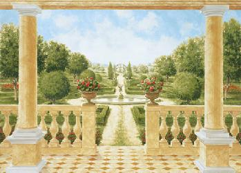 Poster para pared - Giardino al italiana Enmarcado de laminas