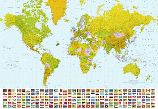 Poster para pared - Map of the world