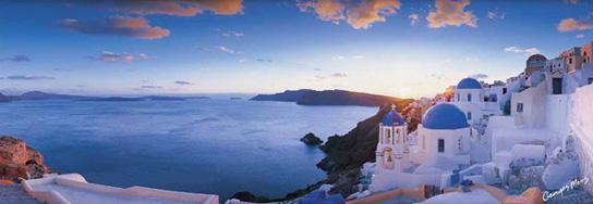 Poster para pared - Santorini panorama Enmarcado de laminas