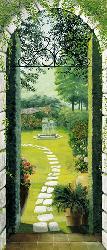 Poster para pared - Vista dal porticao Enmarcado de laminas