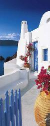Poster para pared -Santorini terrace Enmarcado de laminas