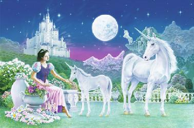 Poster para pared - Unicorn princess Enmarcado de cuadros