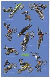 Poster - Free style motocross Marcos y Cuadros