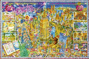 New York Enmarcado de laminas