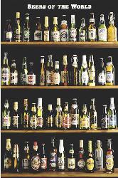 Poster - Beers of the world Enmarcado de cuadros