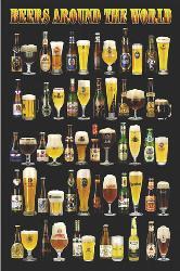 Poster - Beers around the world Enmarcado de cuadros