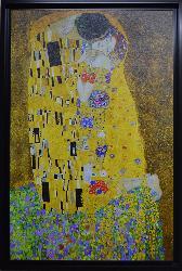 CUADRO EL BESO KLIMT (VERTICAL) Enmarcado de laminas
