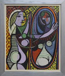 Cuadro Mujer frente al espejo  Marcos y Cuadros