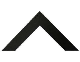 Chata 5 cm Negro Mate Enmarcado de laminas