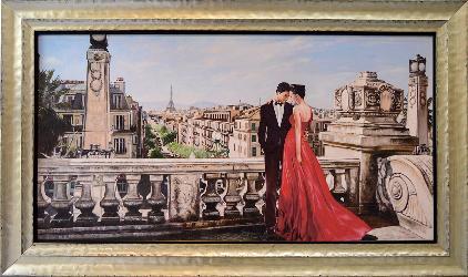 CUADRO ROMANCE EN PARIS PIERRE BENSON SAW Enmarcado de laminas