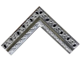 Labrada y agujereada 80 mm plata Enmarcado de laminas