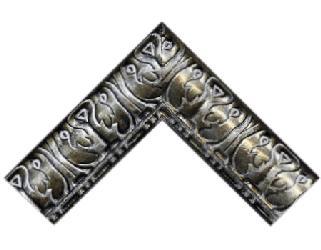 Batea 95 mm acanto plata Enmarcado de laminas