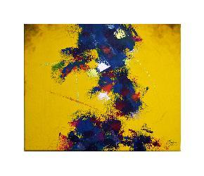 Abstracto Amarillo Enmarcado de cuadros