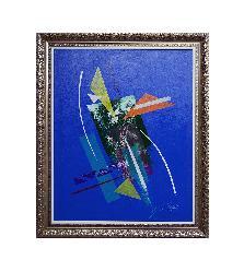 Abstracto Azul Enmarcado de cuadros