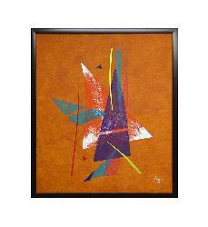 Abstracto Naranja Enmarcado de cuadros