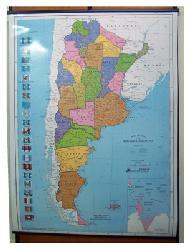Mapa - Argentina Politico Enmarcado de laminas