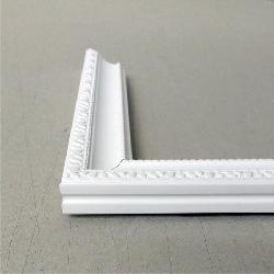 moldura ecologica tipo batea 2 cm blanco mate Enmarcado de cuadros