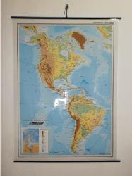 Mapa - Continente Americano Fisico Enmarcado de laminas