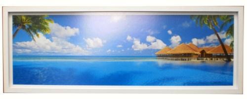 Cuadro Foto Velavura Islas Maldivas Enmarcado de laminas
