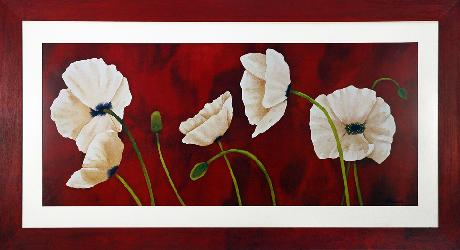 Cuadro - Danza di papaveri bianchi (discontinuado) Enmarcado de laminas