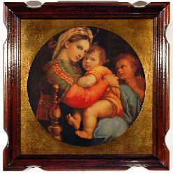 Cuadro - Madonna della seggiola Marcos y Cuadros