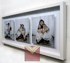 Enmarcado cajon flotante triptico Enmarcado de cuadros