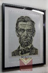 Enmarcado cajon con paspartú Enmarcado de cuadros