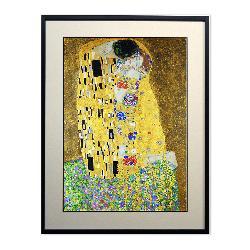 Cuadro El Beso (detalle vertical) Klimt Enmarcado de laminas