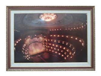 Enmarcado de lamina del Teatro Colon con luz de Neon Enmarcado de cuadros
