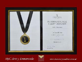 Enmarcado de Certificado con medalla Marcos y Cuadros