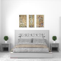 set 3 cuadros canvas con marco Klimt Marcos y Cuadros