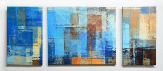 Cuadro Triptico Abstracto Canvas bastidor Enmarcado de cuadros