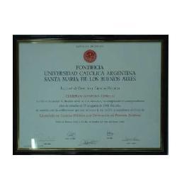 Enmarcado de certificado UCA Enmarcado de laminas