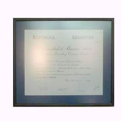 Enmarcado de diploma UBA Enmarcado de laminas
