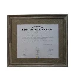 Enmarcado de Diploma Uca Sta Fe Enmarcado de laminas