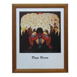Cuadro - El vendedor de flores Enmarcado de laminas