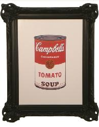 Cuadro - Colored Campbells Soup Enmarcado de cuadros