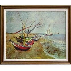 Cuadro - Barcas en la playa Enmarcado de cuadros