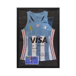Enmarcado camiseta manga larga de Argentina Marcos y Cuadros