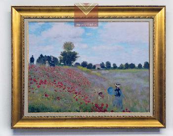 Cuadro Campo de Amapolas, Monet Enmarcado de laminas