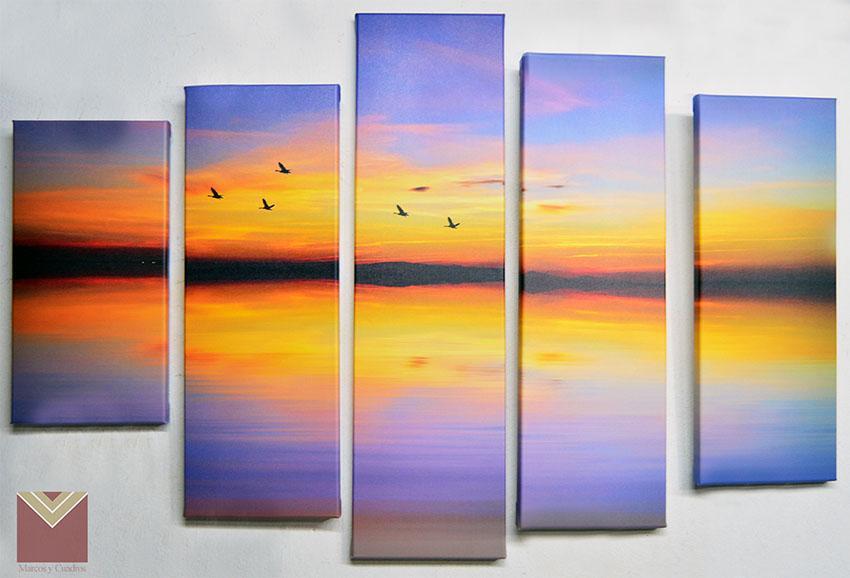 Canvas en bastidor 5 piezas