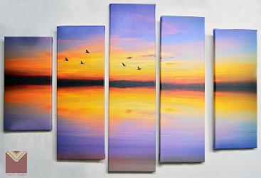 Canvas en bastidor 5 piezas Enmarcado de cuadros