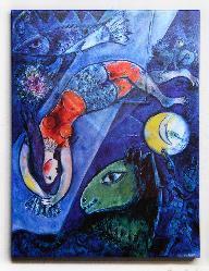 Canvas en bastidor El circo Azul Chagall Enmarcado de laminas