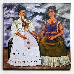 Canvas en bastidor Las dos Fridas Frifa Kahlo Enmarcado de laminas