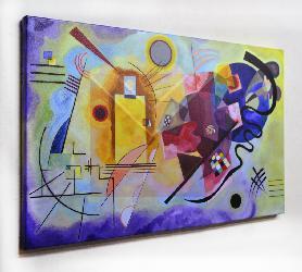 Cuadro Kandinsky Amarillo, Rojo y Azul Enmarcado de laminas