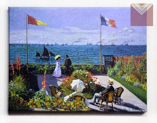 Cuadro Canvas Bastidor Jardin en Sainte Adresse Monet Enmarcado de cuadros