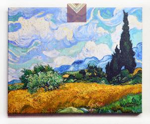 Cuadro Campo de trigo con cipreces Van Gogh Enmarcado de cuadros