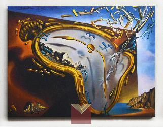 Canvas en bastidor Reloj Blando Dali Enmarcado de laminas