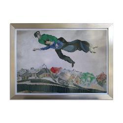Cuadro Sobrevolando la ciudad, Marc Chagall Enmarcado de cuadros